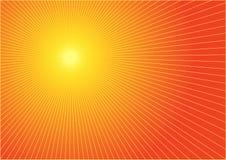 O sol quente do verão ilustração do vetor