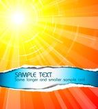 O sol quente do verão Foto de Stock