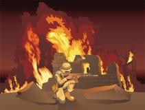 O soldado Fotografia de Stock Royalty Free