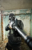 O soldado armado Fotos de Stock Royalty Free
