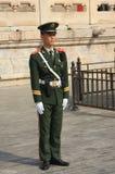 O soldado está no protetor de honra no cargo Imagem de Stock Royalty Free