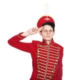 O soldado no formulário antigo Imagens de Stock Royalty Free