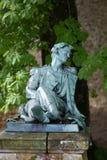 o soldado polonês ferido no jardim do castelo em Montresor. Imagens de Stock