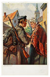 O soldado retornado da guerra ilustração stock