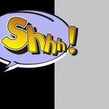 O som de Shhh! no estilo cômico Imagens de Stock Royalty Free