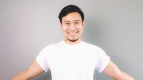 O sorriso amigável e apronta-se para abraçar Imagens de Stock
