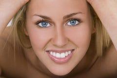 O sorriso o mais bonito Foto de Stock