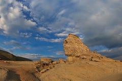 O Sphinx de Bucegi, Romania Imagem de Stock