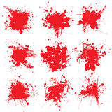 O splat do sangue coleta Imagens de Stock
