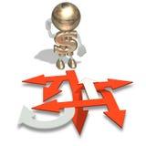 O Sr. Dólar escolhe um sentido Imagem de Stock Royalty Free