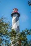 O St famoso Augustine Light Station em St Augustine, Florida imagem de stock