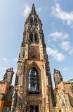 O St famoso Nicholas Church e memorial na cidade de Hamburgo germany imagens de stock