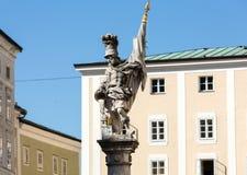 O St Florian da fonte Alter Markt em Salzburg Imagens de Stock Royalty Free