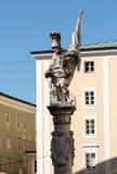 O St Florian da fonte Alter Markt em Salzburg Imagens de Stock