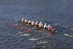 O St Lawrence University compete na cabeça da faculdade Eights de Charles Regatta Men Foto de Stock Royalty Free