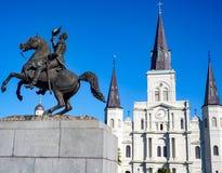 O St Louis Cathedral em Jackson Square do bairro francês em Nova Orleães Louisiana Imagens de Stock Royalty Free