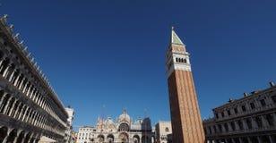 O St marca o quadrado em Veneza Fotos de Stock Royalty Free