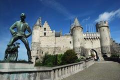 O Steen (castelo) em Antuérpia Foto de Stock