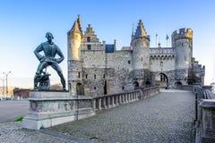 O Steen em Antuérpia, Bélgica Foto de Stock Royalty Free