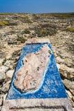 O stele de pedra do cabo Sainte Marie Fotografia de Stock Royalty Free