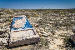 O stele de pedra do cabo Sainte Marie Imagem de Stock