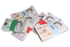 O Sterling anota a moeda do dinheiro foto de stock