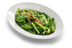 O Stir fritou o kale chinês com molho da ostra Imagens de Stock Royalty Free