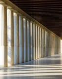 O Stoa, Atenas Fotos de Stock Royalty Free