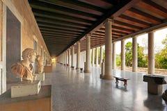 O Stoa de Attalos, Grécia Fotos de Stock Royalty Free