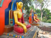O Stupa de Swayambunath, Nepal Fotografia de Stock