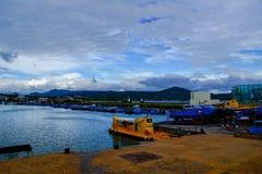 O submarino amarelo em Houbihu Fotografia de Stock
