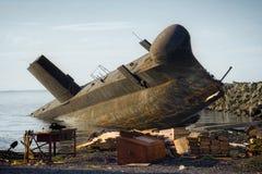 O submarino de inclinação Fotos de Stock Royalty Free