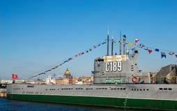 O submarino do museu Foto de Stock Royalty Free