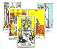 O sucesso Detemination do curso do cartão de tarô da biga ilustração do vetor