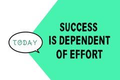 O sucesso do texto da escrita da palavra é dependente do esforço Conceito do negócio para que o esforço Make suceda a estada pers ilustração royalty free