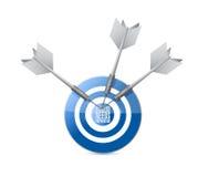 o sucesso precisa o sinal do alvo da preparação Fotografia de Stock