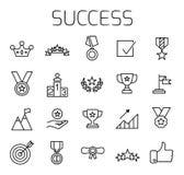 O sucesso relacionou o grupo do ícone do vetor ilustração do vetor