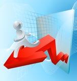 O sucesso resulta conceito Imagens de Stock