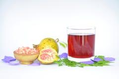 O suco delicioso da romã Imagem de Stock Royalty Free