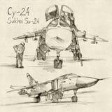 O Sukhoi Su-24 Fotografia de Stock Royalty Free