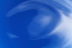 O sumário acena no azul colorido líquido de cima de Imagem de Stock