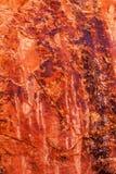 O sumário alaranjado da garganta da rocha arqueia o parque nacional Moab Utá Fotografia de Stock