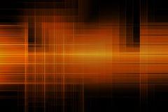 O sumário alinha a forma geométrica da cor alaranjada que incandesce no fundo escuro Imagens de Stock Royalty Free