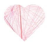 O sumário alinha a ilustração do vetor do coração Fotografia de Stock