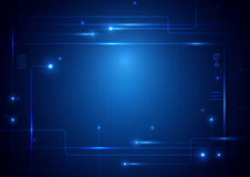 O sumário alinha o conceito digital da tecnologia da tecnologia da placa de circuito olá! ilustração royalty free