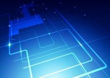 O sumário alinha o fundo do azul da tecnologia Foto de Stock Royalty Free