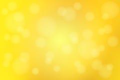 O sumário amarelo dourado brilhante com bokeh ilumina o backgrou borrado ilustração do vetor