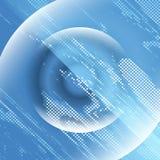 O sumário azul da exposição dobro ilumina o quadrado do fundo do disco ilustração stock