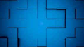 O sumário bonito cuba a animação 3d Fundo abstrato do movimento para o fundo sem emenda do espaço da cópia Os cubos são feitos de ilustração royalty free