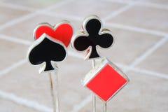 O sumário carda símbolos Foto de Stock Royalty Free